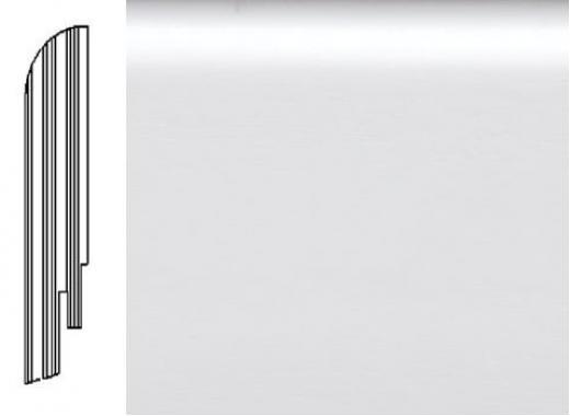 ПЛИНТУС ШПОНИРОВАННЫЙ DL PROFILES 2 БЕЛЫЙ ГЛАДКИЙ 2400X75X16