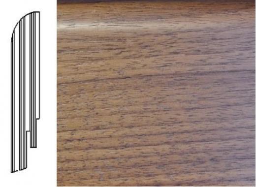 ПЛИНТУС ШПОНИРОВАННЫЙ DL PROFILES C16 ОРЕХ ТЕМНЫЙ 2400X75X16