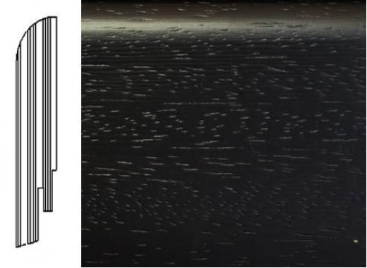 ПЛИНТУС ШПОНИРОВАННЫЙ DL PROFILES S8 ВЕНГЕ НАТУР ТЕМНЫЙ 2400X75X16