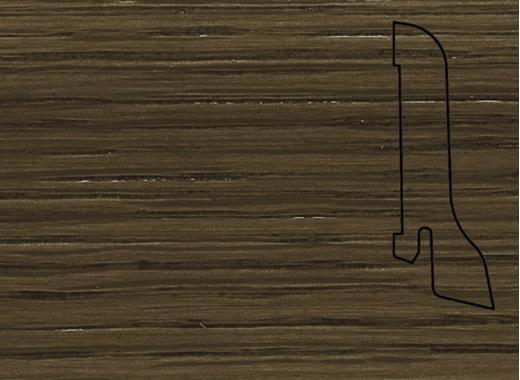 Плинтус Дуб бронза 2500х60х22мм