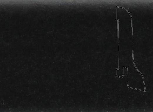Плинтус Дуб черный 2500х60х22мм