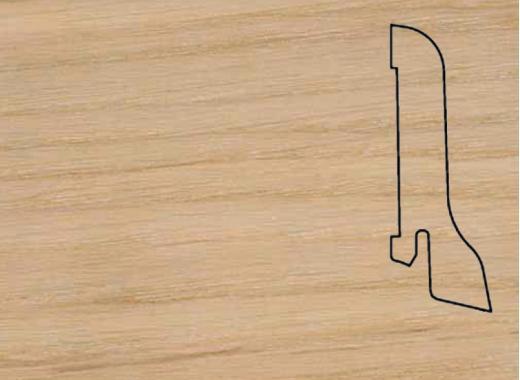 Плинтус Дуб без лака 2500х60х22мм