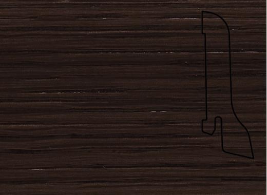 Плинтус Дуб кофе 2500х60х22мм