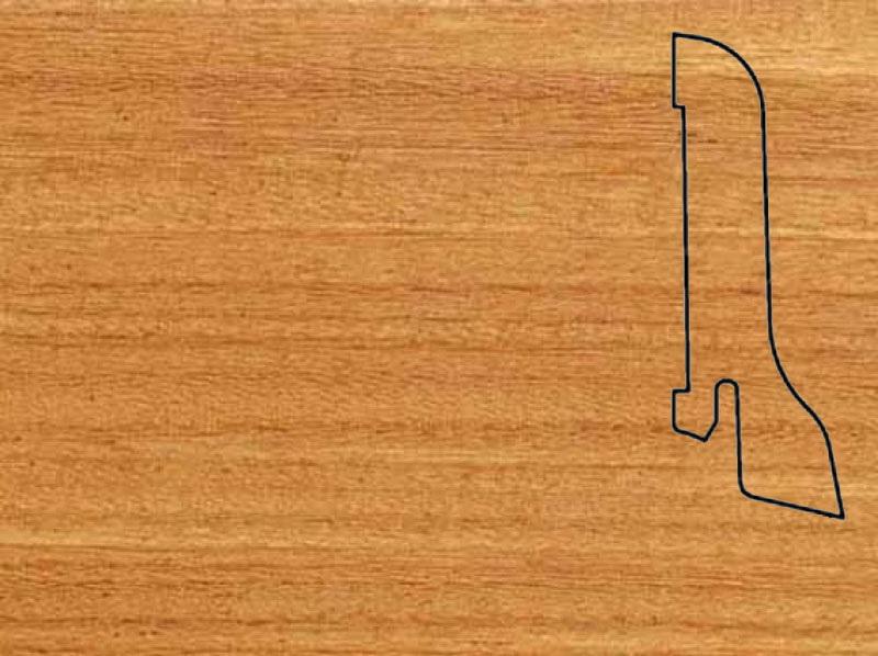 Плинтус Афромозия 2500х60х22мм