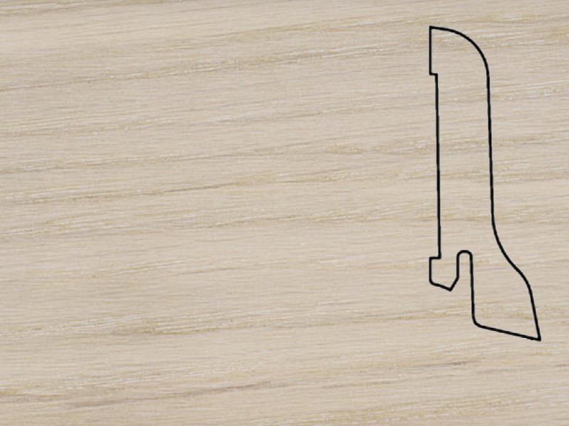 Плинтус Дуб беленый 2500х60х22мм