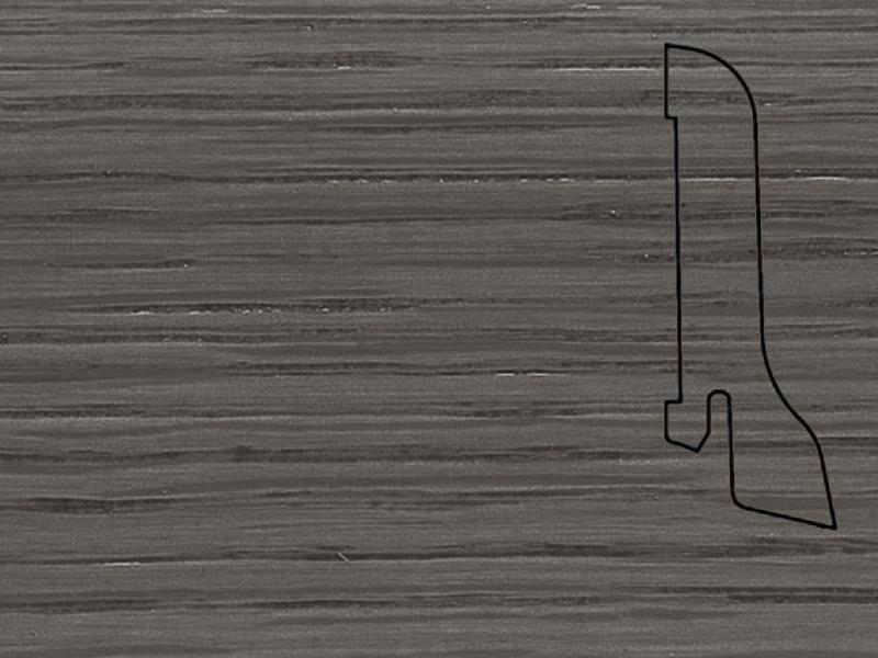 Плинтус Дуб серый 2500х60х22мм