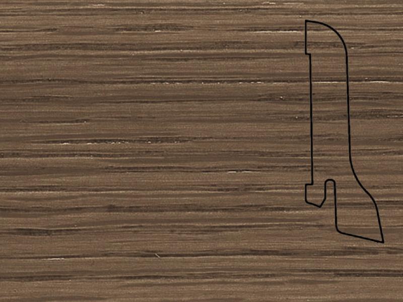 Плинтус Дуб коричн. 2500х60х22мм