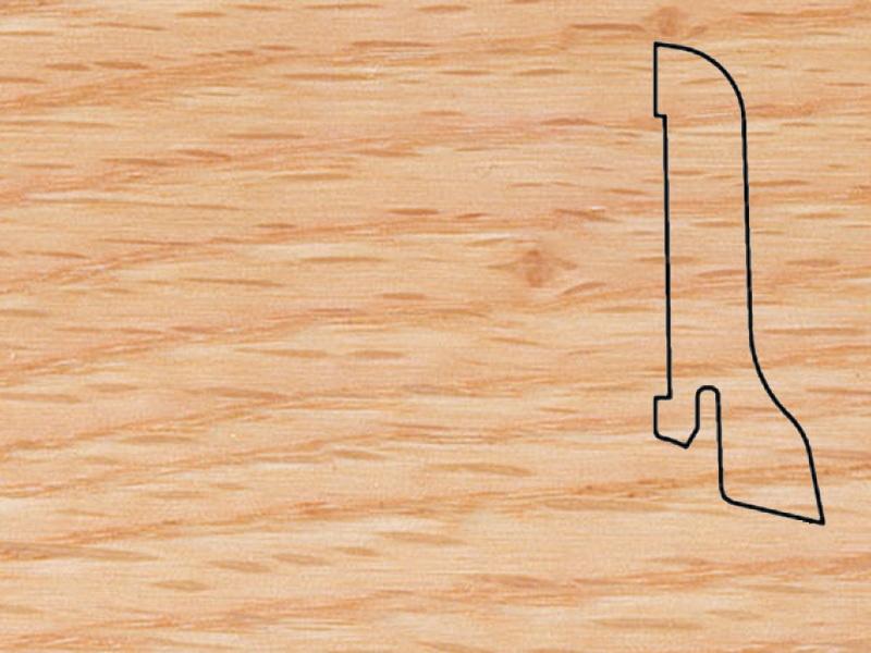 Плинтус Дуб красный 2500х60х22мм