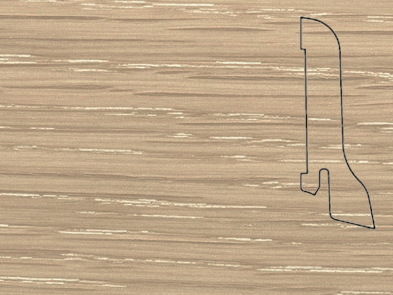 Плинтус Дуб латте 2500х60х22мм
