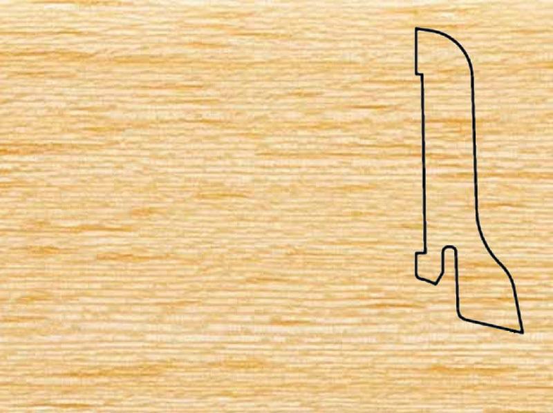 Плинтус Гевея 2500х60х22мм